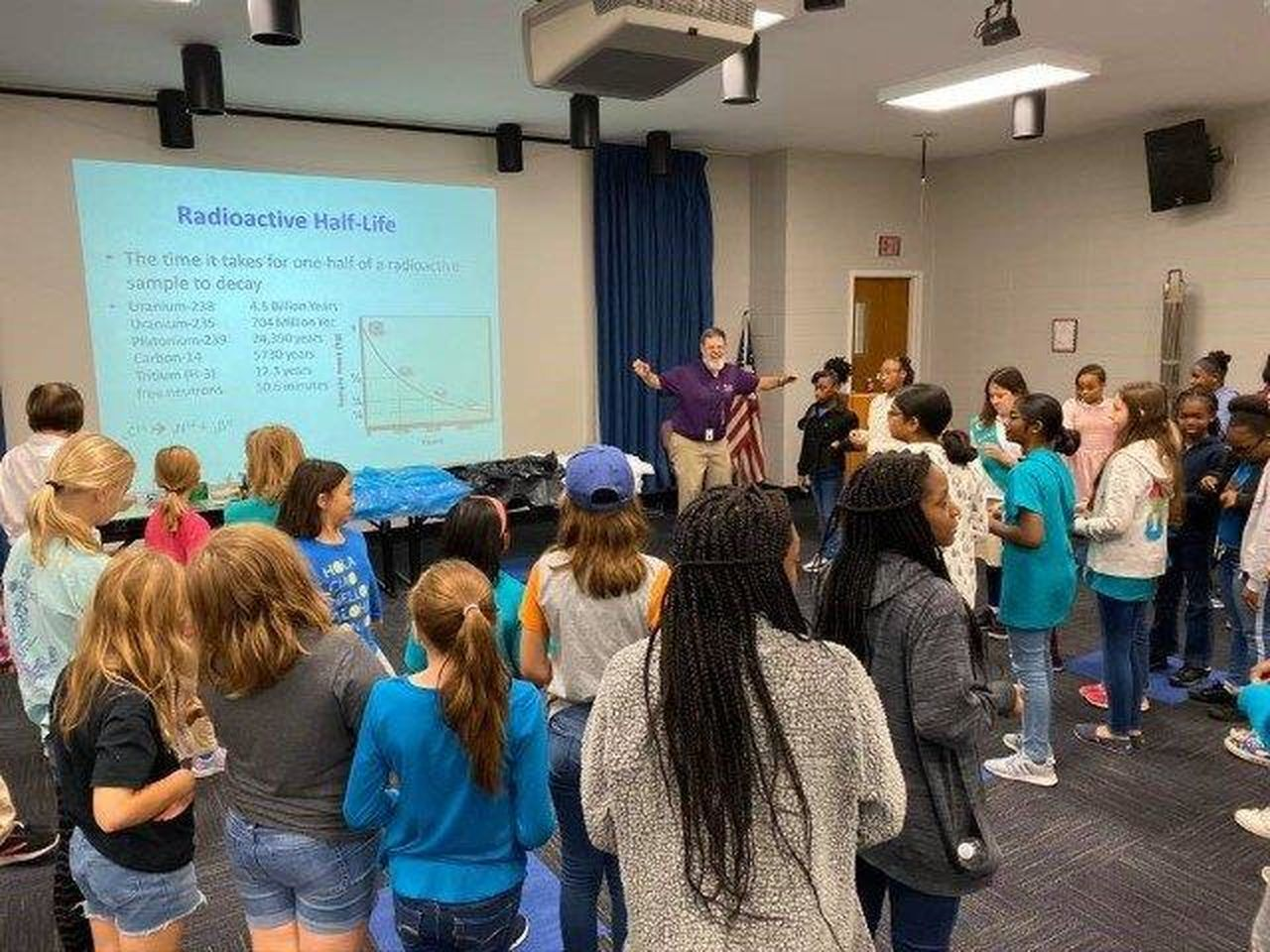 More than 40 Girl Scouts visited River Bend to earn their nuclear science badges.
