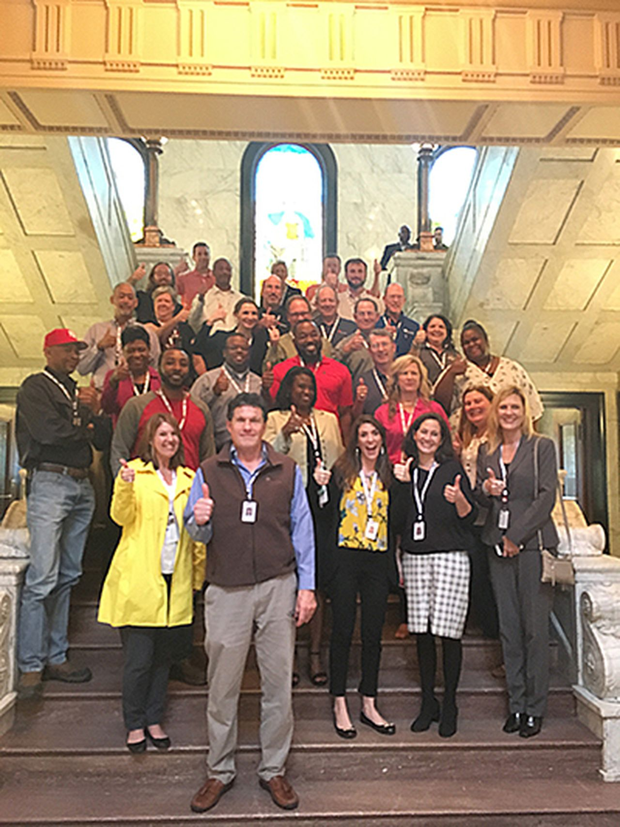 Entergy Mississippi employees visit the State Capitol to show their support for SB 2295.