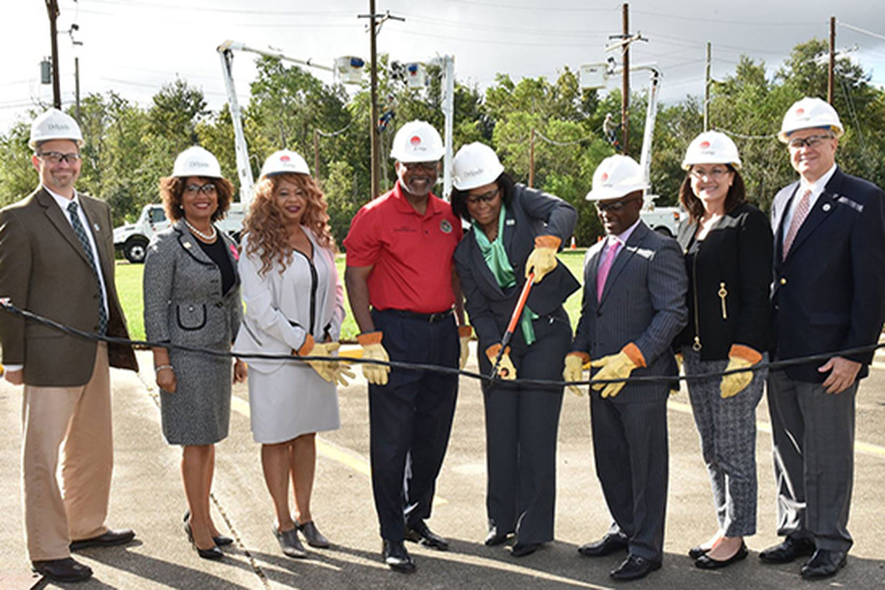 Entergy New Orleans & Delgado Community College Wire Cutting Ceremony