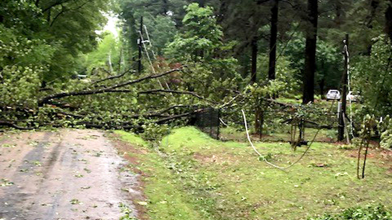 High winds in El Dorado Easter morning caused extensive damage and numerous outages.