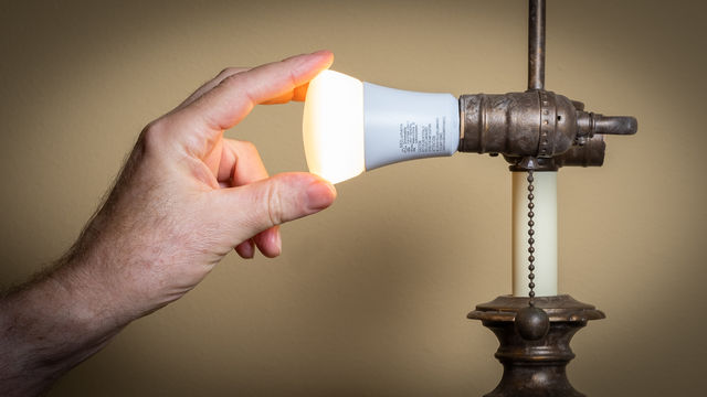 Installing LED light bulbs is a quick and easy way to save energy.
