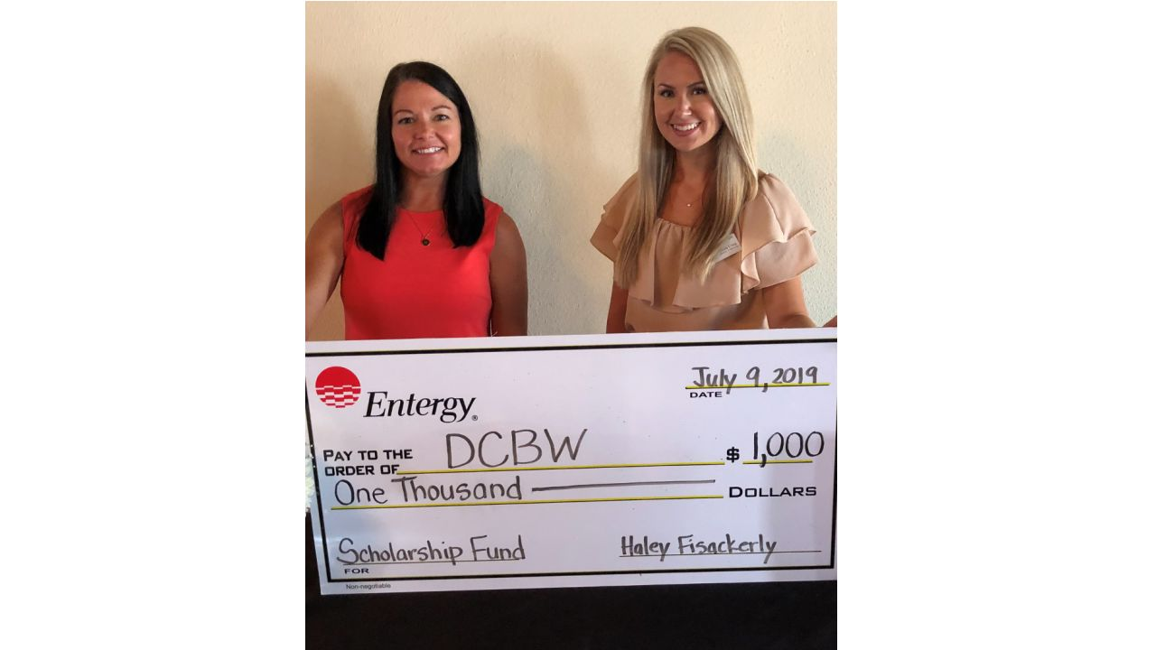 : Hayley Perkins (left), Entergy Mississippi customer service assistant and president of DCBW, is shown with Olivia Craig, City of Southaven director of marketing and vice president of DCBW.