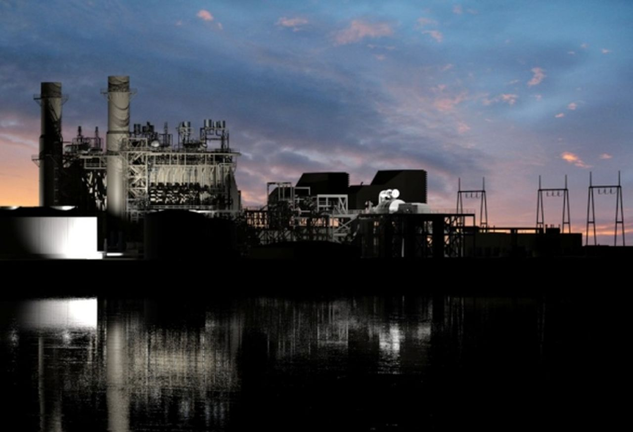 Artist rendering of Montgomery County Power Station