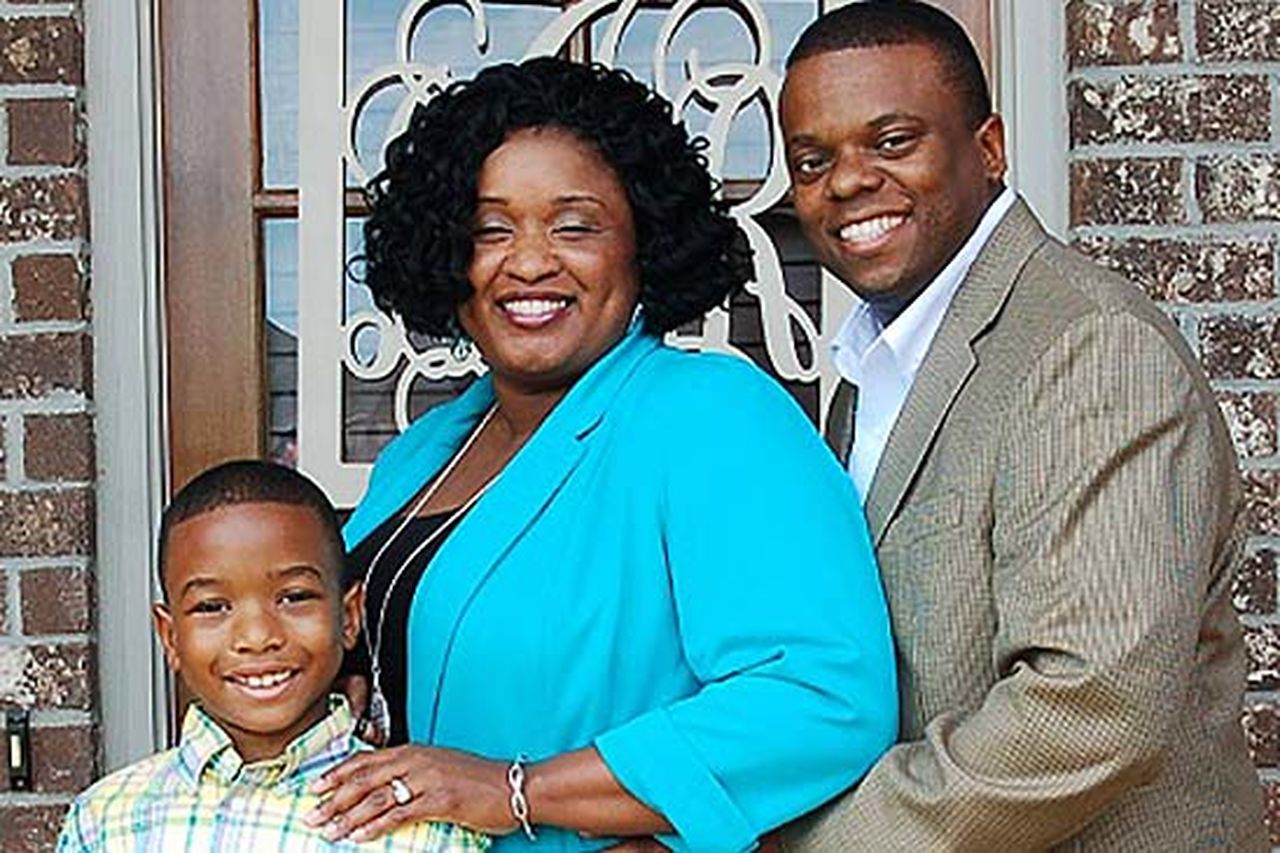 Rock Ingram, pictured here with wife Latonya and son Christian, is a veteran and a volunteer.