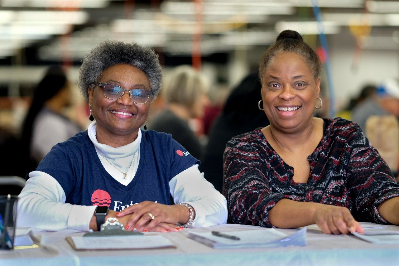 Volunteers at Arkansas State Fairground for Super Tax Day 2019