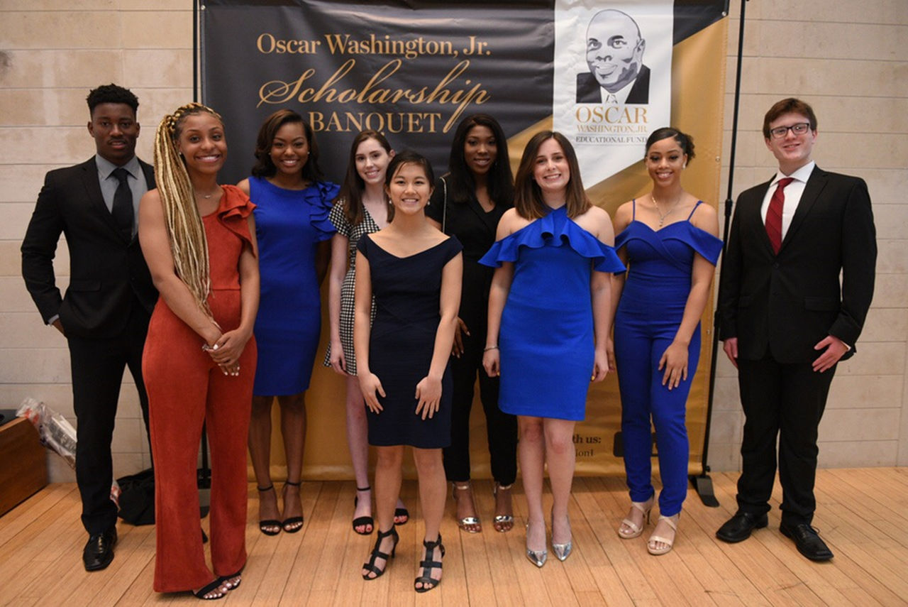 Oscar Washington Jr. Educational Fund Scholarship recipients were honored during a ceremony at the William J. Clinton Presidential Library in Little Rock.