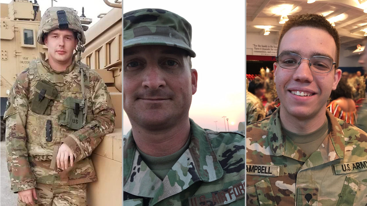 Entergy employees are sending the comforts of home to deployed troops this holiday season, including to some employees' family members, like Will Mainka, Brandon Dill and Conner Campbell.