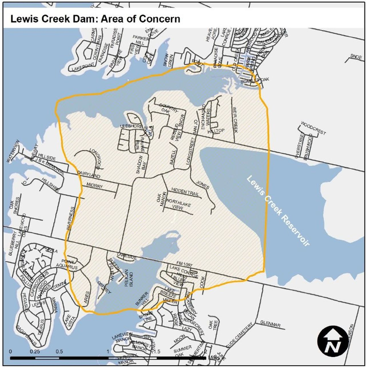 Lewis Creek Dam: Area of Concern