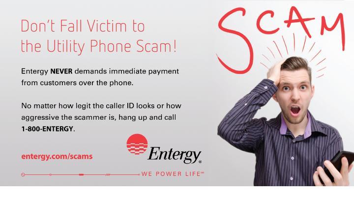 Entergy Arkansas Issues Scam Alert Entergy Newsroom